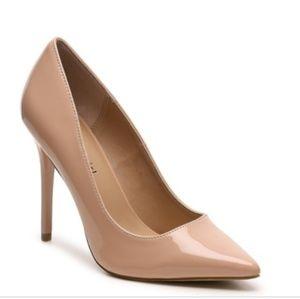 BCBG Paris Gaminkha Nude Patent Pumps/Heels